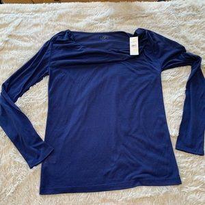 LOFT long sleeve blue shirt, NWT